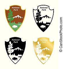 the national park - An illustration - sign - emblem of...