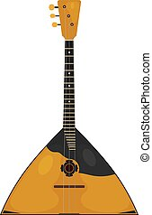 The national Russian musical instrument on a white background. Balalaika. Subject of Russian culture. Stock vector illustration