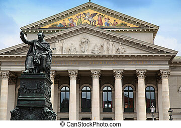 The National Theatre of Munich at Max-Joseph-Platz Square in...