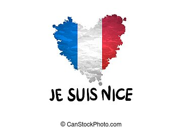The national waving flag of France. Blue, white red background. vector art
