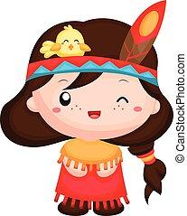 The Native American Girl