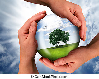the nature - the world should be saved by the creator