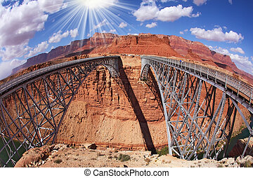 The Navajo Bridge over the River Colorado