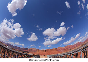 The Navajo Bridge over the River Colorado