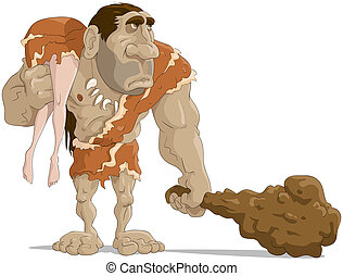 The neanderthal man with the wife