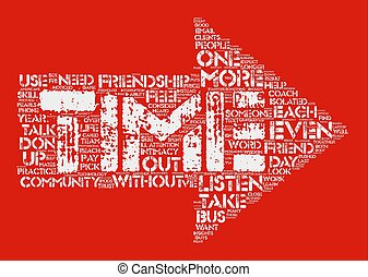 The Need For Friendship And Community Word Cloud Concept Text Background