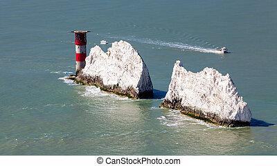 The Needles Isle Of Wight England UK