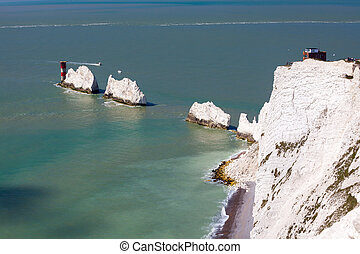 The Needles Isle Of Wight England UK - The Needles rock...