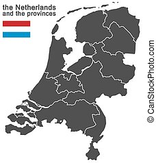 the Netherlands and provinces - european country the...