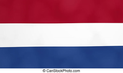 The Netherlands Country Waving 3D Flag Duo Transition Background