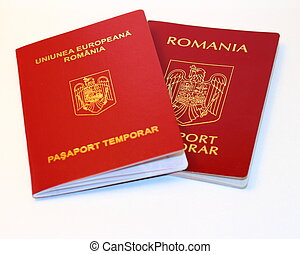 Romanian passport - The new and old  Romanian passport