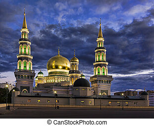 The new building of a mosque in Moscow