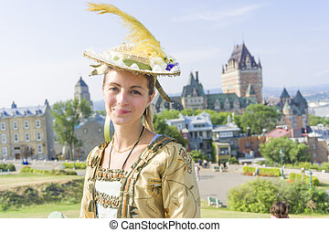New France costume style outside portrait - The New France...