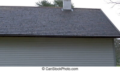 The new house with a shingle roof