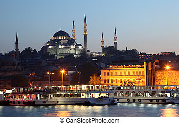 The New Mosque (Yeni Camii) in Istanbul, Turkey