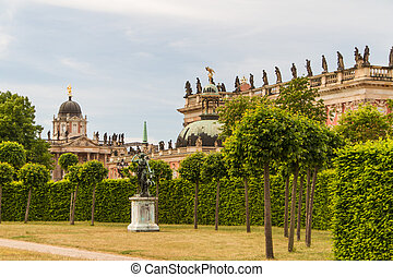 The New Palace in Potsdam Germany on UNESCO World Heritage...