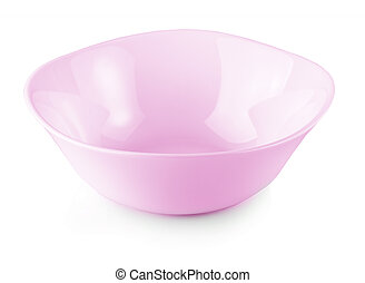 new pink plate isolated on a white background