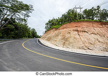 The new road around curves