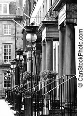 The New Town, Edinburgh - A Georgian Street in the New Town,...