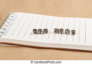 The new work - the word of the individual letters