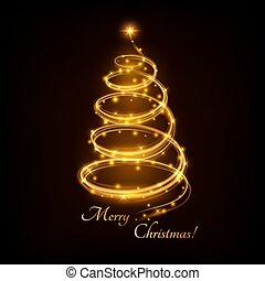The New Year shining tree