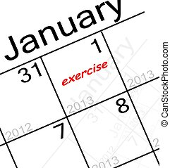 the new years resolution is. . . exercise!
