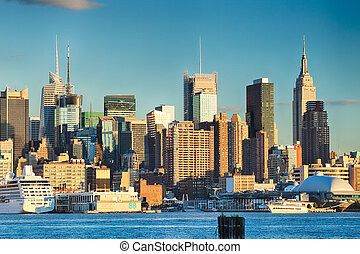 The New York City Uptown skyline at the afternoon - The New ...