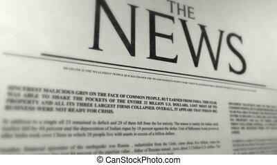 The News - cover of newspaper