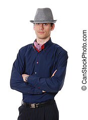 The nice young guy in a hat