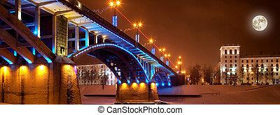 The night city of Vitebsk, Belarus