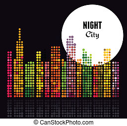 Night City - vector background