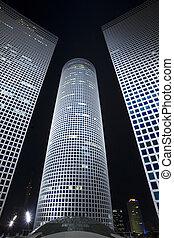 The night cityscape - The night city, Azrieli center -Modern...