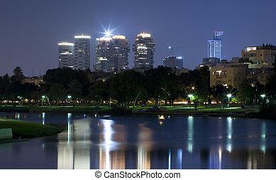 Tel Aviv - The night Tel Aviv city