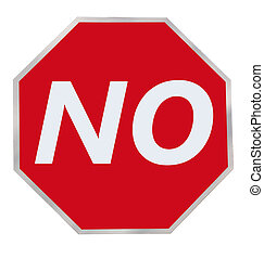 The No Sign - Octagonal Red No Sign to help with decision...