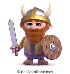 The noble 3d Viking - 3d render of a noble viking