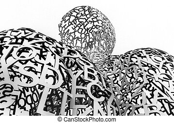 The Nomade sculpture in the port of Antibes, on August 10, 2010 in France. The sculpture is a creation by Jaume Plensa and originally appeared in Antibes in the summer of 2007.