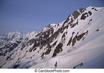 The North Alps of snow, Mt. Tateyama range