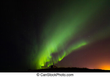 The Northern Light Aurora borealis Iceland