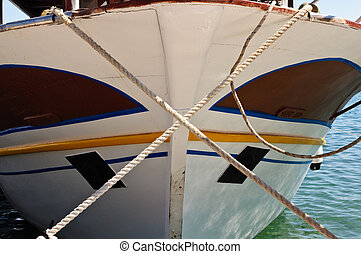 The nose of a boat