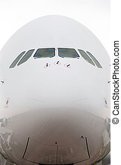 The nose of a plane