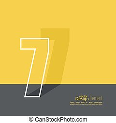 The number 7. one. abstract background. Outline. Logo or...
