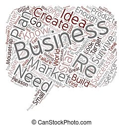 The Number One Reason For Business Failure text background wordcloud concept