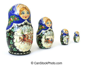 Russian national souvenir - The nursery toy. Russian...