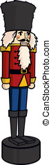 The Nutcracker - This is a vector cartoon of a holiday...