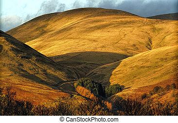 The Ochil Hills in Scotland