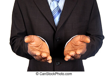 THE OFFER - This is an image of black business man offering ...