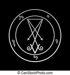 The official symbol of Lucifer in the circle