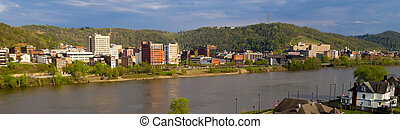 The Ohio River cuts Through Wheeling West Virginia and ...