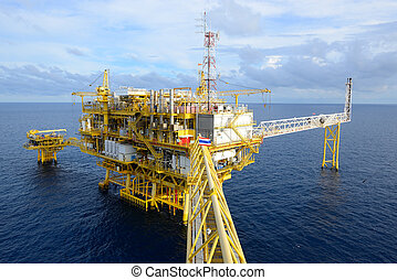 The oil rig. - The oil rig in the gulf of Thailand.