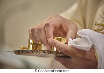 The oils for baptism.
